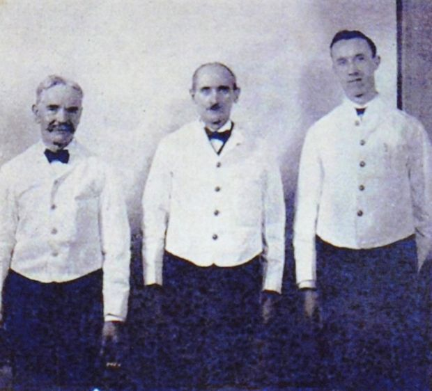 Titanic steward Sidney Daniels(right)saved numerous lives and survived by climbing on to an upturned lifeboat.   When disaster struck the brave 18-year-old roused dozens of sleeping passengers and helped launch a lifeboat that saved 24 people. He then leaped from the doomed liner into the icy sea and later clambered on to the capsized vessel. He would go on to wed, have seven kids and die in 1983, aged 89.