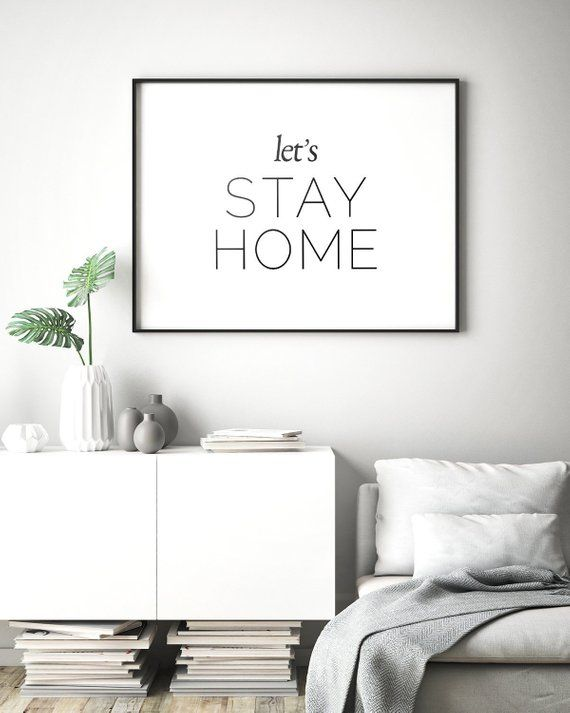 Let S Stay Home Printable Poster Home Decor Home Sweet Etsy Lukisan