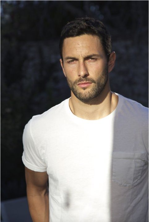 A brooding Noah Mills...still ridiculously hot