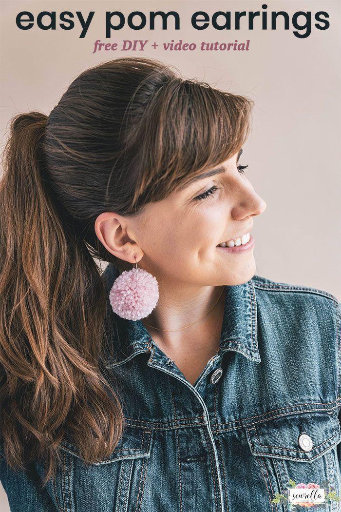 Diy Yarn Scrap Earrings 3 Ways Crafty Crafts Pinterest
