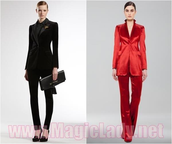 Стильные женские классические костюмы