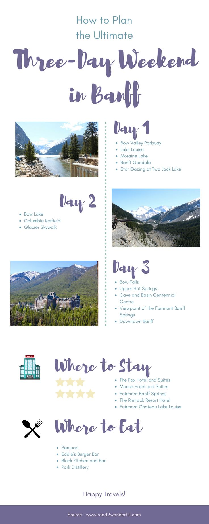 Do you only have 3 days to spend in Banff National Park and want to check out all of the best spots and restaurants? We are going to share our favorite places and restaurants, and share how we saw the Northern Lights along with grizzlies on our perfect three-day weekend in Banff.
