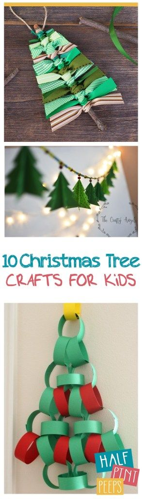 10 Christmas Tree Crafts for Kids