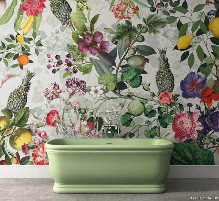 Les 25 meilleures id es de la cat gorie papier peint retro sur pinterest - Papier peint fleuri vintage ...