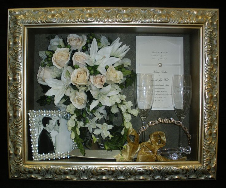 Dry Wedding Flowers: Freeze-dried Wedding Bouquet Flowers In Our Custom Shadow