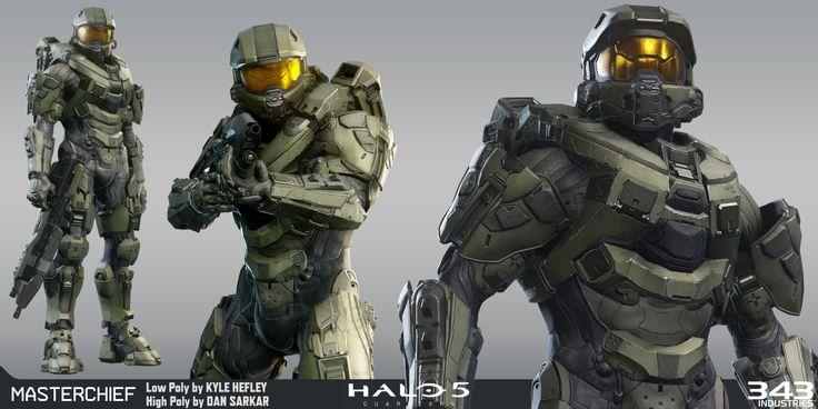 Artstation Halo 5 Master Chief Kyle Hefley Sci Fi