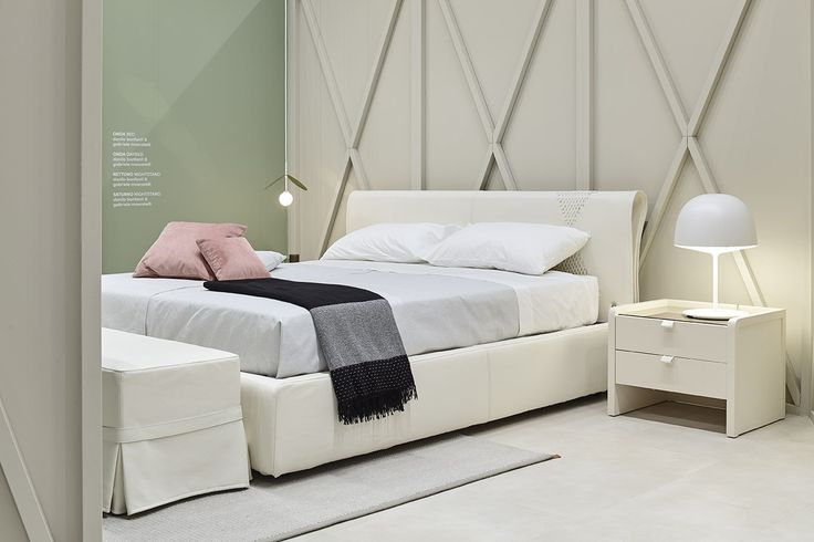 Onda bed and Nettuno bedside table