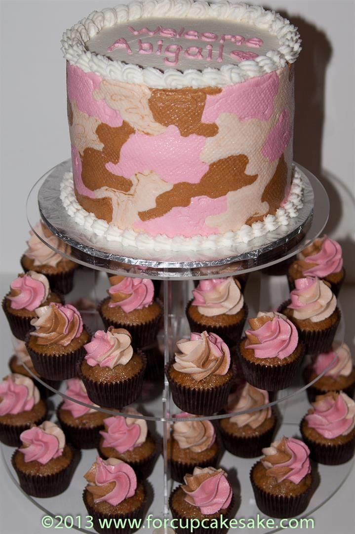 25 best ideas about pink camo cupcakes on pinterest for Pink camo decorations