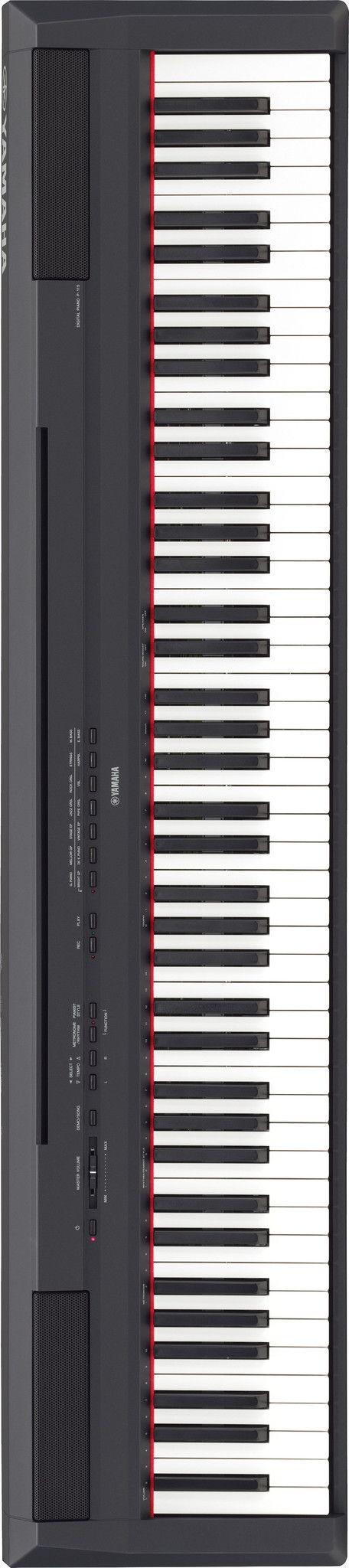 Yamaha P115 Digital Piano | Black Finish