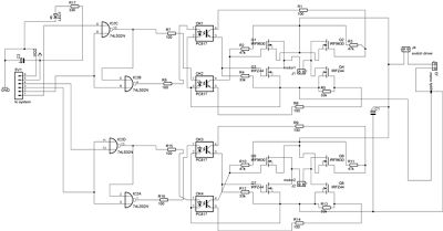 kardus: Driver Motor Mosfet and Optocoupler