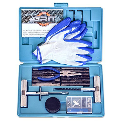 [62 Piece] Heavy Duty Tire Repair Kit with Gloves | Universal Tubeless Flat Tire Plug Kit for Puncture Repair | Ideal for Cars, Trucks, SUVs, ATVs, Motorcycles, Lawn Mowers, Tractors, Motorhomes. For product info go to:  https://www.caraccessoriesonlinemarket.com/62-piece-heavy-duty-tire-repair-kit-with-gloves-universal-tubeless-flat-tire-plug-kit-for-puncture-repair-ideal-for-cars-trucks-suvs-atvs-motorcycles-lawn-mowers-tractors-motorhomes/