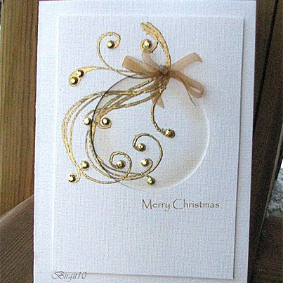 Golden Greeting Card- awesome, so simple and so effective!