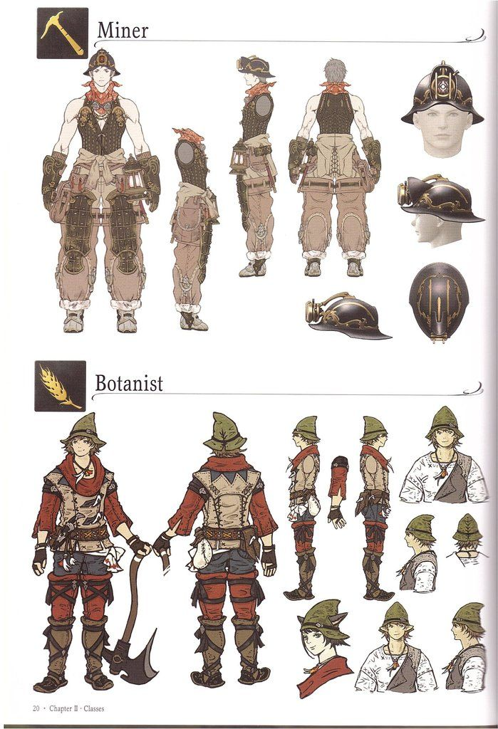 Crafter and gatherer AFs, from the Collectors Edition artbook
