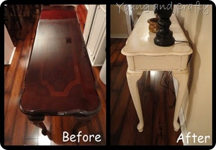 another sofa table redo... great for labtop and stools