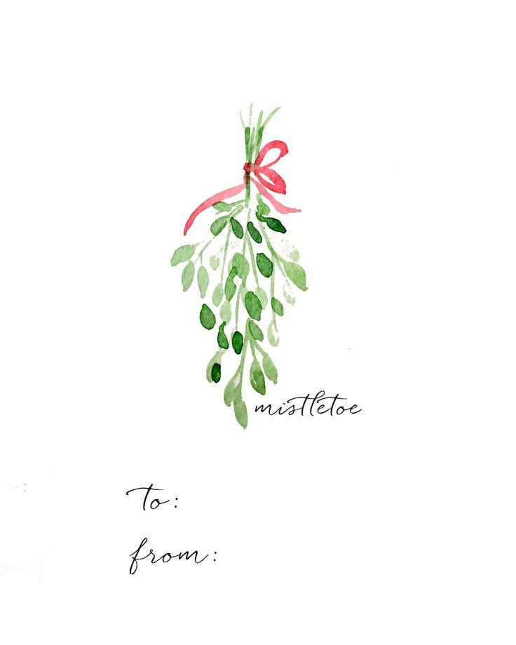 Craftberry Bush: Watercolor Christmas Gift Tag DIY and Free Printables
