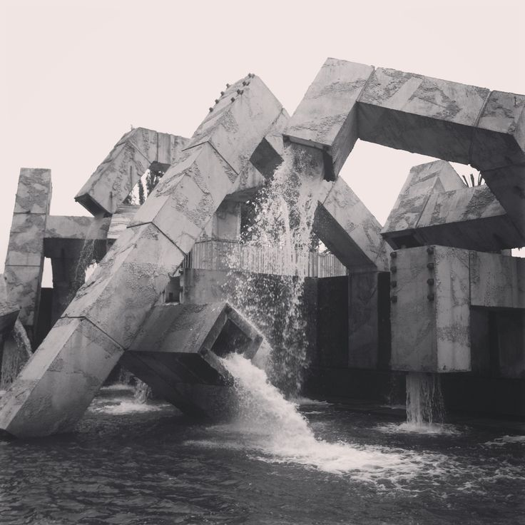 Brutalist Fountain.