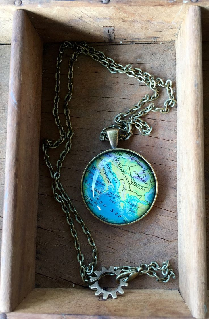 Italy Globe Necklace Map World Travel Wanderlust Christmas Gift for Traveler Earth Nation by IndustrialWhimsy on Etsy https://www.etsy.com/listing/294568453/italy-globe-necklace-map-world-travel
