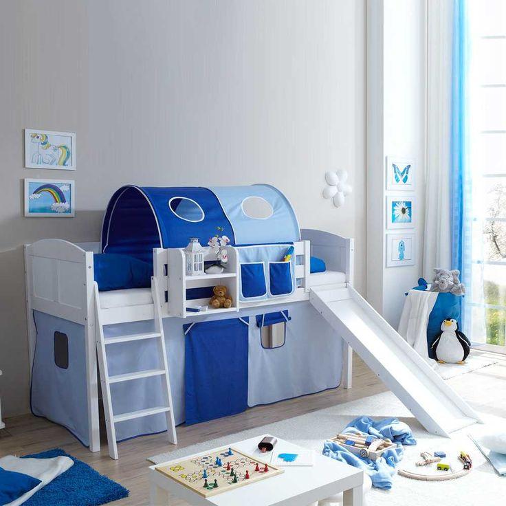 Rutschbett In Blau Weiß Blau Jetzt Bestellen Unter:  Https://moebel.ladendirekt.de/kinderzimmer/betten/hochbetten/?uidu003d6379a541 39ef 50b4 Aa44   ...