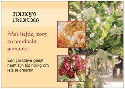 Op 15-12-2016 komen met een beetje geluk mijn flyers binnen. Dan kan ik eindelijk reclame maken voor zowel deze pagina zoals voor mijn eigen website. Deze is: www.nancyscreaties.nl