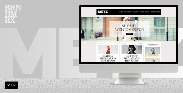Metz - A Fashioned Editorial Magazine Theme - News / Editorial Blog / Magazine