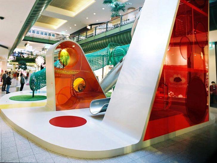 Un parque infantil de diseño inspirado en el arcoíris - DecoPeques