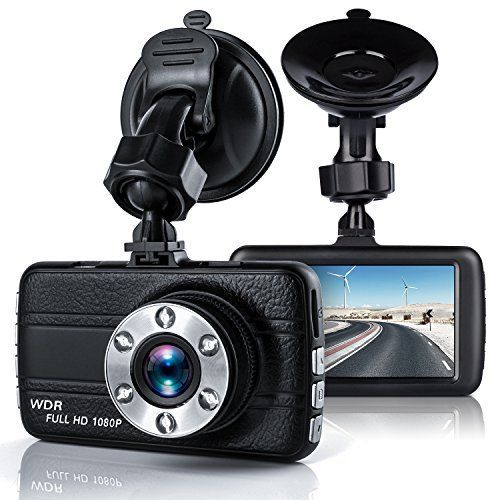 "Dash CamBekhic Dash Camera for Cars with 3.0"" TFT Display Full HD 1080P 170 Degree Super Wide Angle Cameras Built-in Night Vision WDR Loop RecordingG-Sensor"