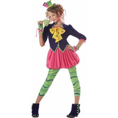 The Mad Hatter Teen Halloween Costume, Girl's, Size: Large, Multicolor