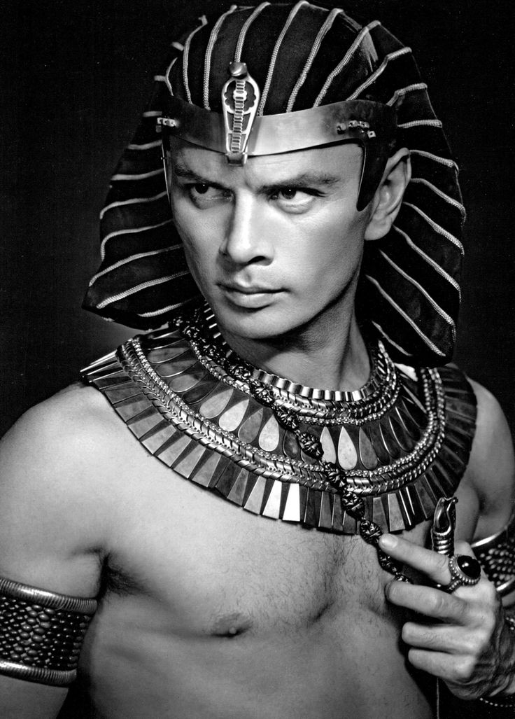 "wehadfacesthen: "" ladybegood: ""Yul Brynner photographed by Yousuf Karsh for The Ten Commandments (1956) "" ""So it is written; so it shall be done."" """