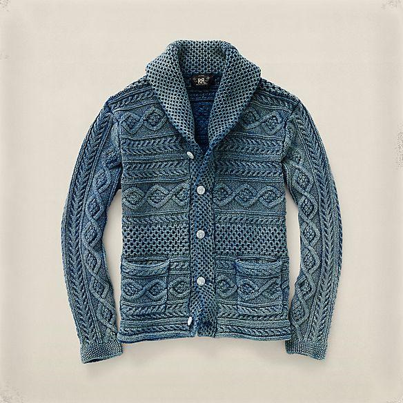 インディゴ ショールカラー カーディガン ・ メンズ 冬のお気に入り ・ ハイライト ・ メンズファッション通販 | RRL - Ralph Lauren Japan (ラルフローレン)