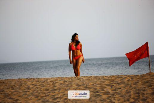 Sai Tamhankar's Bikini shoot for Marathi film 'No Entry Pudhe Dhoka Aahey'..