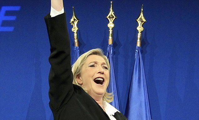 Marine Le Pen promises 'Frexit' vote if made president  #DailyMail