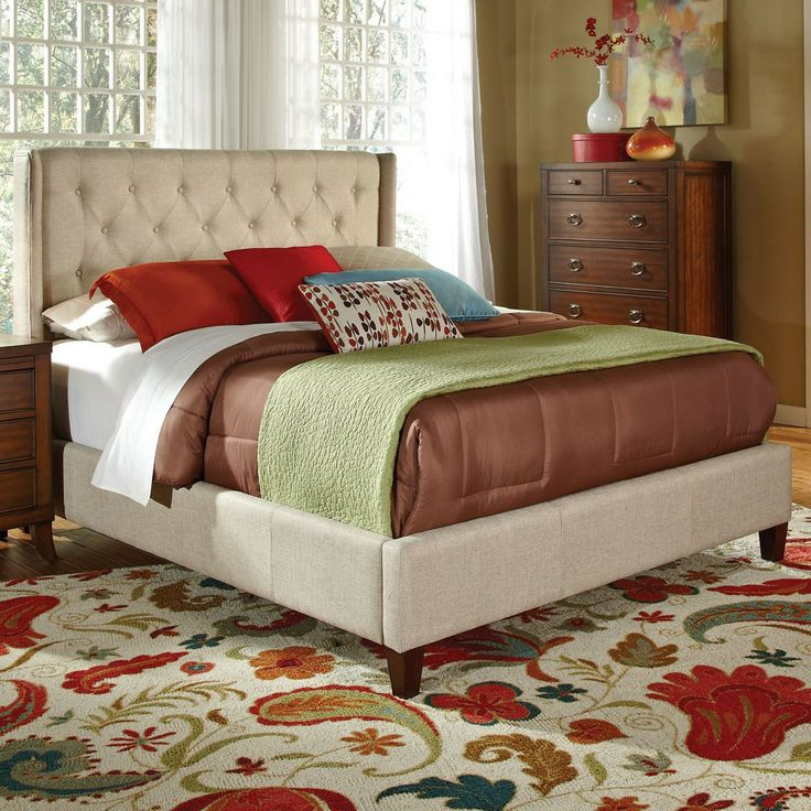 Coaster Eastern King Bed, Tan Velvet Modern Furniture