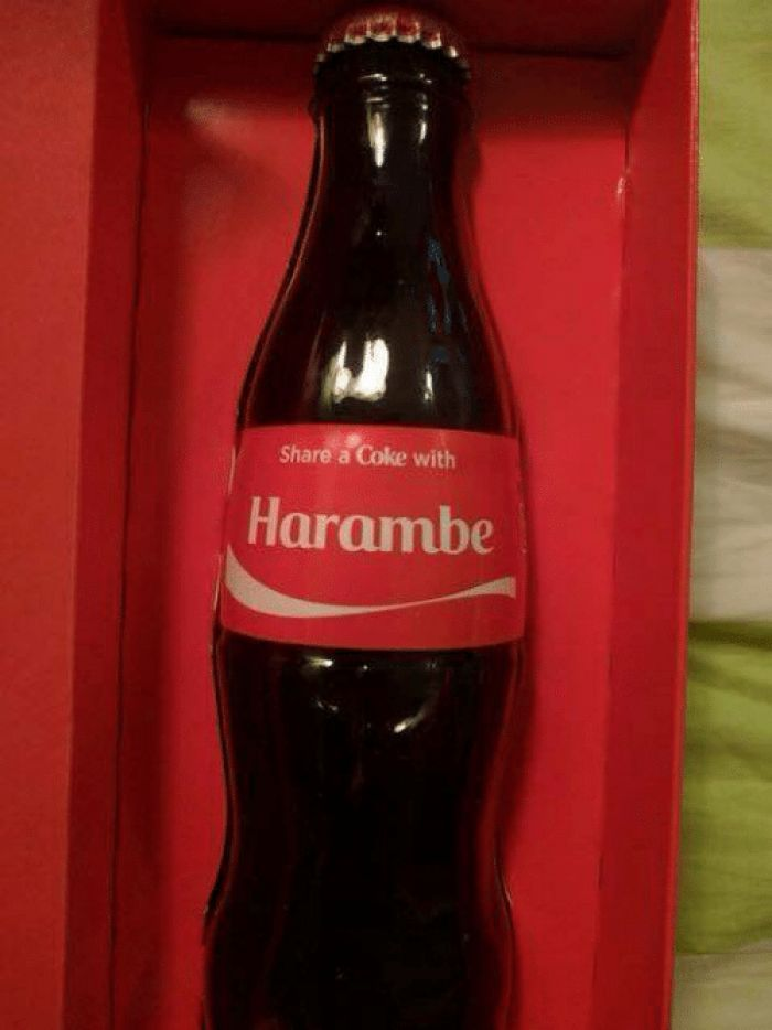 Is this real? I hope so. I look at dank memes before I sleep bc it makes my dreams all fucked up bc it was the last thing I saw before sleeping. Share a Coke with Harambe!