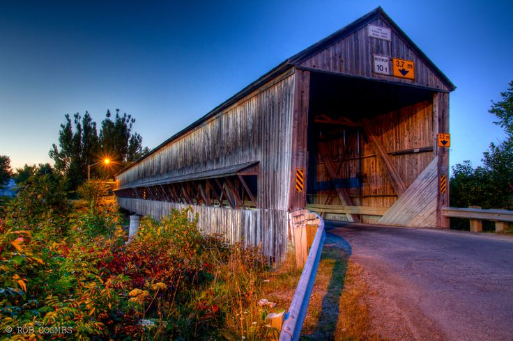 Covered Bridge in New Brunswick, Canada