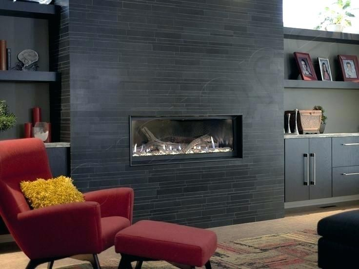 Stone Tile Over Brick Fireplace Grey Stone Tile Fireplace Large