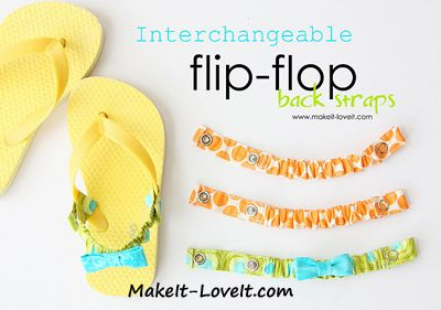 101+ Uses for KAM Snaps - Finally, a way I can use flip flops without them falling off my feet!