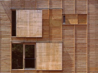 Wood textures.   MGF - Homes for the elderly, Neu­en­bürg 1996.