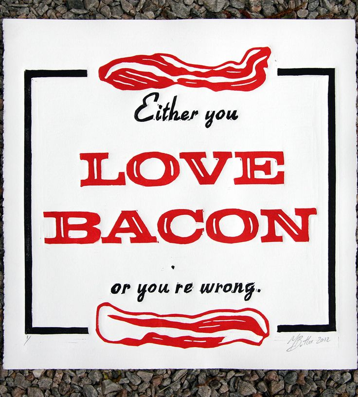 Love Bacon Print | The Matt Butler
