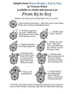 Henna Basics: Step by Step by Victoria Welch - Artistic Adornment