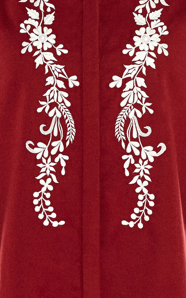 Koby Fine Wool Cashmere Embroidered Blouse by Vilshenko for Preorder on Moda Operandi