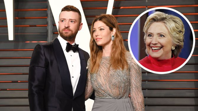 Hillary Clinton Continues Fundraising Swing at Home of Justin Timberlake…