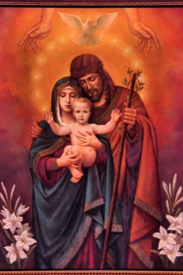 The Holy Family and Trinity from Totus Family Blogspot #HolyFamily…