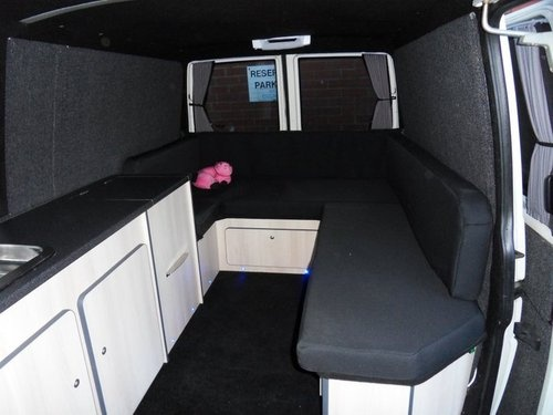 vw transporter camper day van party bus interior. Black Bedroom Furniture Sets. Home Design Ideas