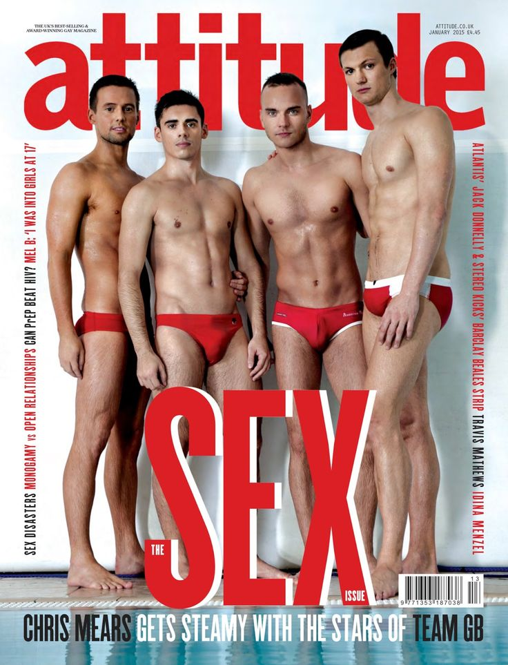 #RIO2016 CHRIS MEARS (UK SWIMMER) SHOWERS WITH TEAM GB DIVING BUDDIES IN ATTITUDE MAGAZINE