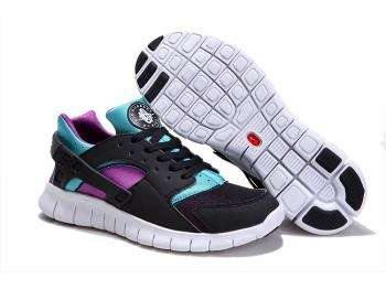 Cheap Nike Huarache Free Mens Run Trainers Size UK 11 LE Black / Blue Sale UK -Nike Huarache Free