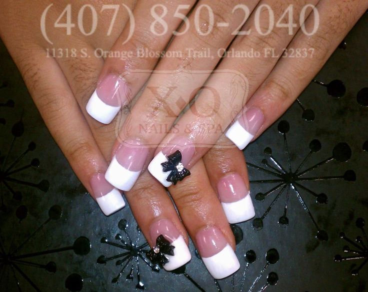 Classic French Tips With 3d