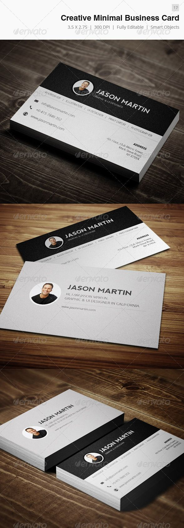 59 best business cards images on pinterest business cards minimal creative business card 17 magicingreecefo Choice Image