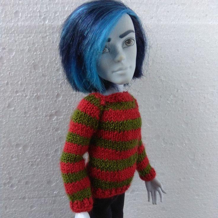 Freddie Krueger's hand-knitted sweater for Monster High boy