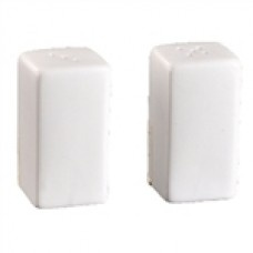 "SQ SALT & PEPPER SHAKERS 38X60MM   $2.60 Salt and pepper is an appreciated addition to any meal. Easy to clean and fill, they""re the ideal set for each table."