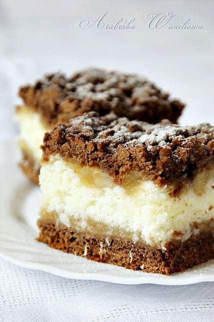 Kakaowe ciasto z kokosem i jabłkami   Arabeska